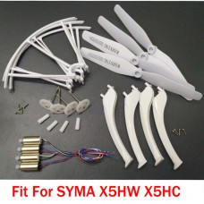 Syma X5HC X5HW Parts Original Motor Gearset Gear Propeller Landing Gear Protection Frame Accessories Kits Five Color To Select