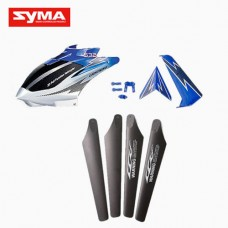 S32-01-Head-cover-Main-blades-Tail-decoration-Blue