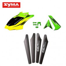S32-01-Head-cover-Main-blades-Tail-decoration-Green