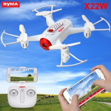 Syma X22W With Wifi FPV HD Camera Real-time Transmission 2.4G 4CH 6Axis Barometer Set Height Headless Mode Flight Track Mini RC Quadcopter White
