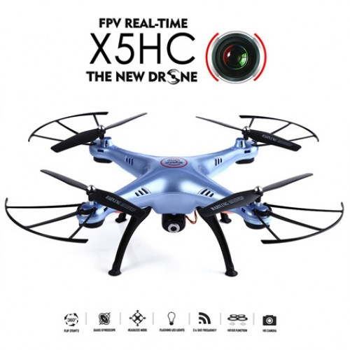 Syma X5HC With 2MP HD Camera 2.4G 4CH 6Axis Barometer Set Height Headless Mode RC Quadcopter