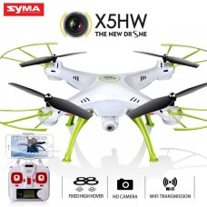 Syma X5HW With Wifi FPV HD Camera 2.4G 4CH 6Axis Barometer Set Height Headless Mode RC Quadcopter White