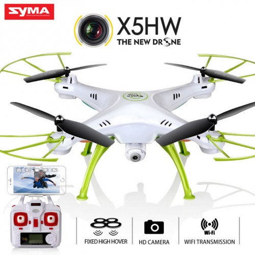 Syma X5HW With Wifi FPV HD Camera 2.4G 4CH 6Axis Barometer Set Height Headless Mode RC Quadcopter