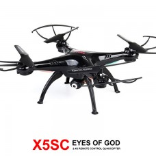 Syma X5SC With 2MP HD Camera 2.4G 4CH 6Axis Headless Mode RC Quadcopter Black