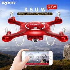 SYMA X5UW FPV RC Quadcopter Drone 720P WIFI Camera HD Mobile Control,Height Hold,Path Flight,One Key Land 2.4G 6-Axis RC Helicopter