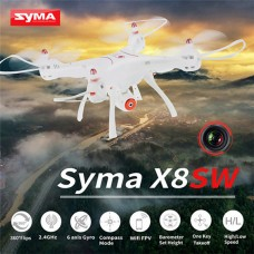 Syma X8SW With Wifi FPV HD Camera Real-time Transmission 2.4G 4CH 6Axis Barometer Set Height Headless Mode Big RC Quadcopter