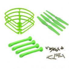 X8W_Protecting-frames-Blades-Landing-skids-Green