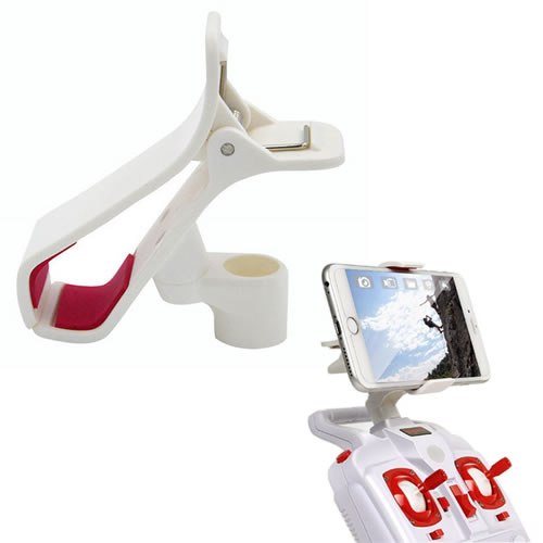 This Spare Part is fit for Syma x8 series quadcopter. Specifications: Brand: Syma Item name: Phone Holder Color : White Fit for: X8 X8C X8G X8W X8HC X8HW ...
