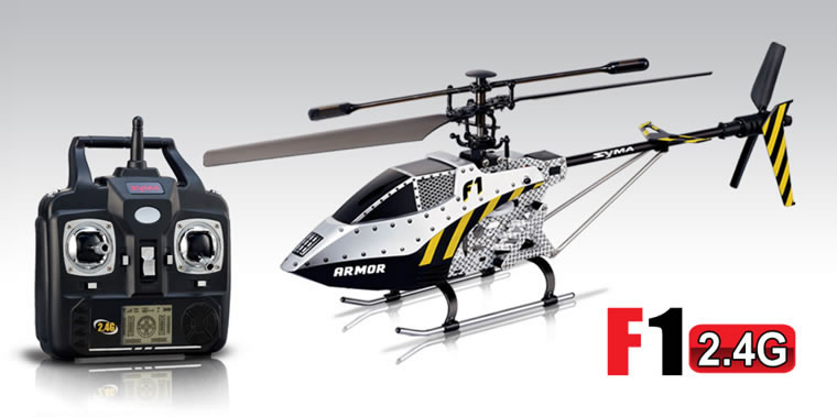 Syma F1 2.4G 3CH FIERY DRAGON Helicopter With Gyro White 3-Channel