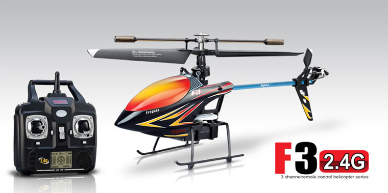 Syma F3 4-channel 2.4G single rotor helicopter (Black)
