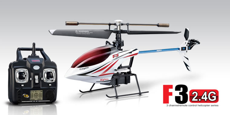 Syma F3 4-channel 2.4G single rotor helicopter (White)