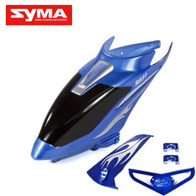 S031G-01-Head-cover-Blue + Tail-decoration-blades-Blue