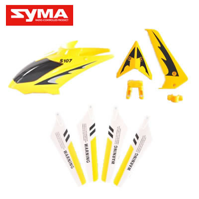i-copter-S107G-01-Head-cover-Yellow + Main-bladc-Yellow + Tail-decoration-Yellow