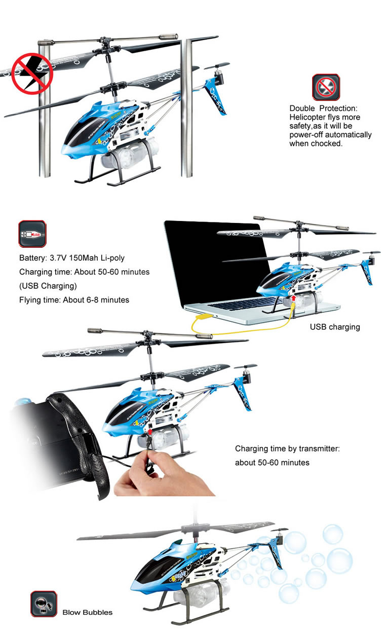 Syma S107P 3CH Remote Control Helicopter With Gyro Pink