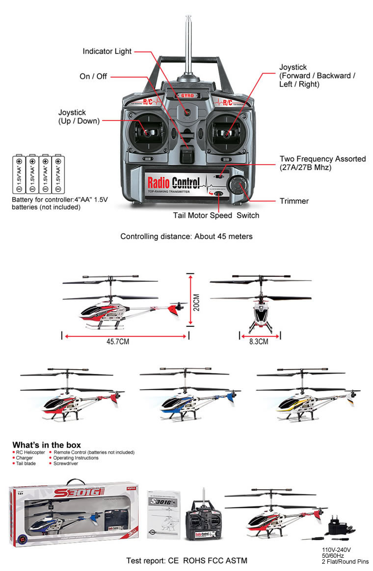 Helicopter Lights Parts Diagram Wiring Diagrams For Dummies Syma S301g 3ch Rc With Gyro Blue Out Of Stock Rh Symatoystore Com Blackhawk Labeled