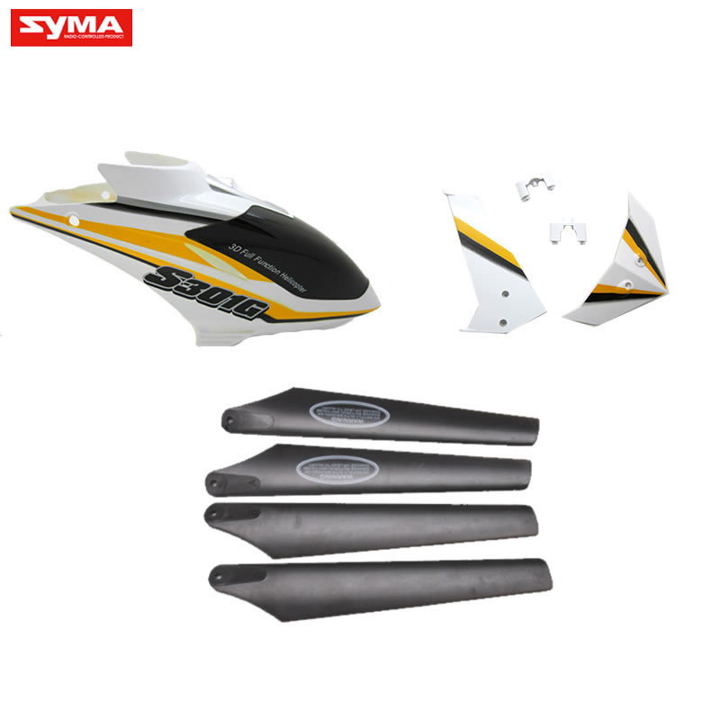 S301G-01-Head-cover-Yellow + Main-blades + Tail-decoration-Yellow