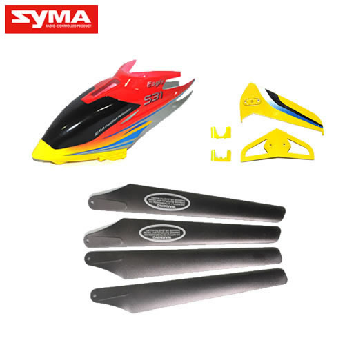 S31-01-Head-cover-Main-blades-Tail-decoration-Yellow