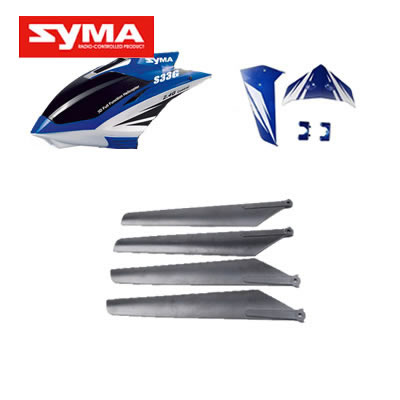 S33-01-Head-cover-Blue + Main-blades + Tail-decorate-blades-Blue