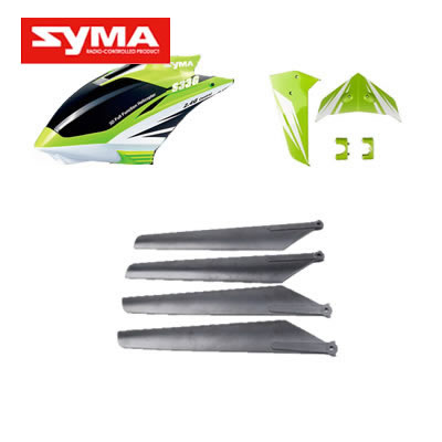 S33-01-Head-cover-Green + Main-blades + Tail-decorate-blades-Green