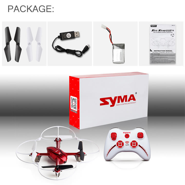 Syma X11 2.4G 4-Channel QuadCopter Red