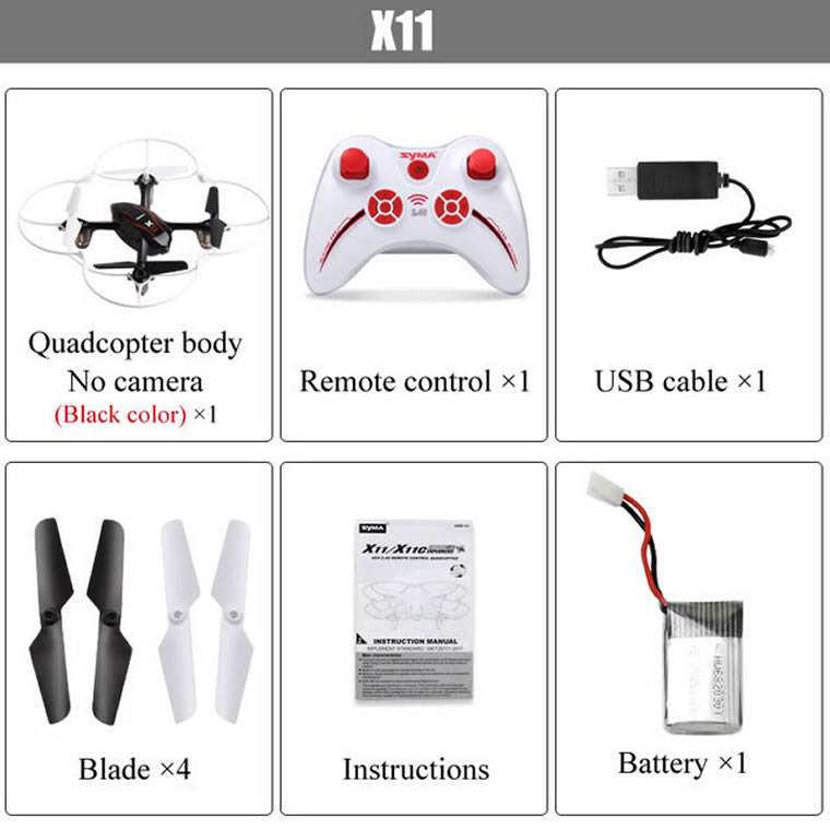 Syma X11 2.4G 4-Channel QuadCopter White