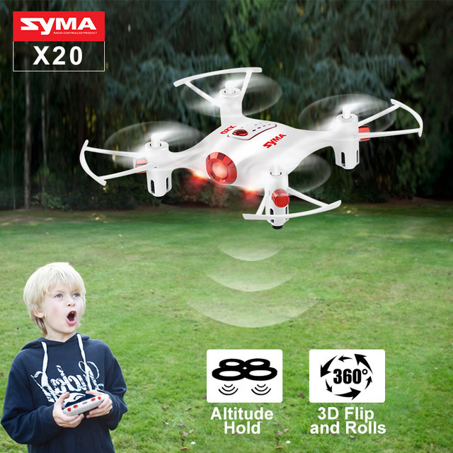 Syma X20 With 2.4G 4CH 6Axis Barometer Set Height Headless Mode Nano RC Quadcopter White