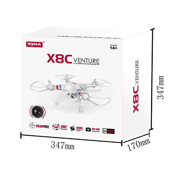 Syma X8C Venture with 2MP 5MP Wide Angle Camera 2.4G 4CH RC Quadcopter Black