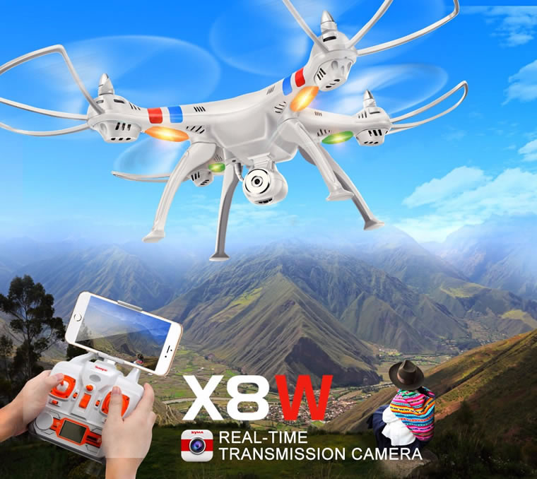 Syma X8W Wifi FPV Real-time 2.4G QuadCopter (HD CAM) White